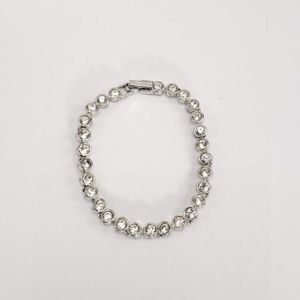 Vintage Swarovski Tennis Bracelet Rodium Plated